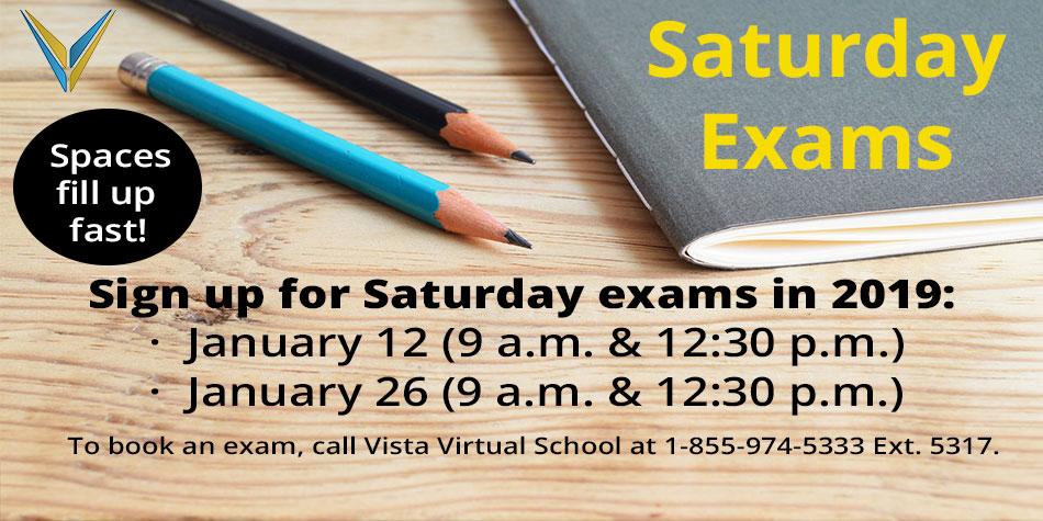 Saturday Exams in January