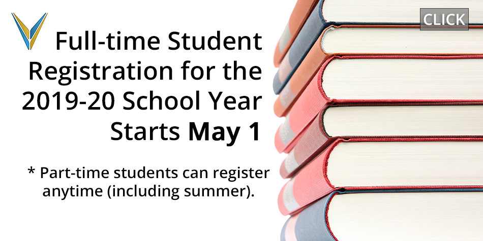 Full-time Student Registration Starts May 1