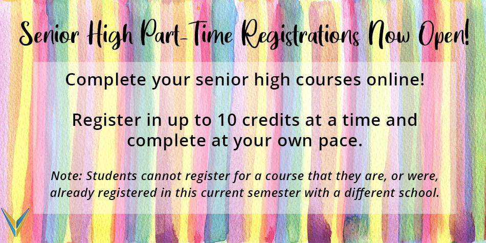 Part-Time Registrations